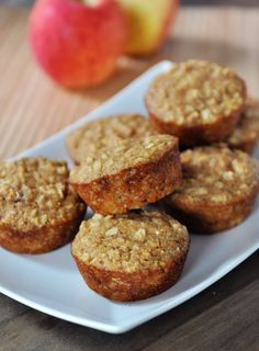 Healthy Oats and Applesauce Muffins - used apple pie spice and added a handful of walnuts.