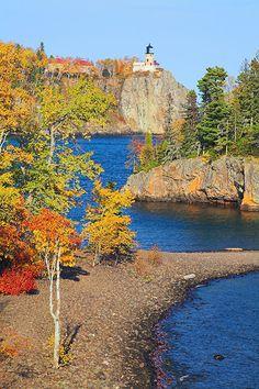 Split Rock Lighthouse in Autumn - Minnesota.