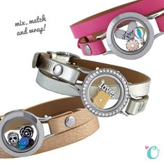 Brace{let's} party! Mix, match and wrap your favorite bases, faces and genuine leather wraps! www.stephaniestith.origamiowl.com www.facebook.com/stephaniestith.origamiowl
