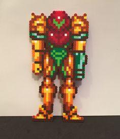 Super Metroid Samus! https://www.etsy.com/listing/246172515/super-metroid-samus-varia-suit-perler