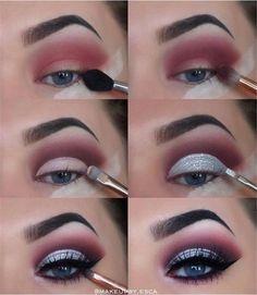 makeup tutorial 40 Winter Eye Makeup Ideas Schöne 40 Winter Eye Make-up-Ideen Makeup Eye Looks, Eye Makeup Steps, Blue Eye Makeup, Natural Eye Makeup, Smokey Eye Makeup, Cute Makeup, Eyeshadow Makeup, Eyeliner Pen, Blue Eyeshadow
