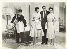 Alan Young, Jane Russell, Scott Brady, Jeanne Crain, GENTLEMEN  MARRY  BRUNETTES (1955)