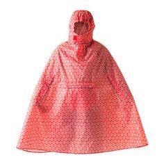 IKEA KNALLA Rain poncho $7.99. Folds into a small pouch. Very roomy. For vehicle supplies, roadside emergency.