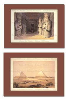 Egyptian Pyramids & Great Temple at Abu by VintageArtMasters