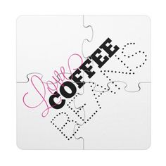 Love Coffee Beans Puzzle Coasters