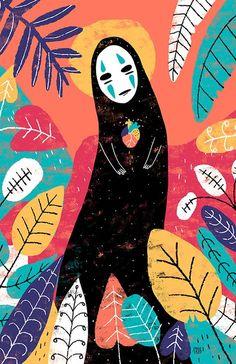 Showcase and discover creative work on the world's leading online platform for… Art Inspo, Kunst Inspo, Anime Kunst, Art Anime, Art And Illustration, Creative Illustration, Totoro, Arte Copic, Art Studio Ghibli