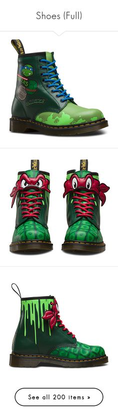"""""""Shoes (Full)"""" by alyssaclifford124 ❤ liked on Polyvore featuring shoes, boots, dr martens boots, dr. martens, dr martens footwear, green boots, dr martens shoes, green shoes, sneakers and converse"""