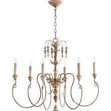 View the Quorum International 6006-6 Salento 6 Light Candle Style Chandelier at LightingDirect.com.
