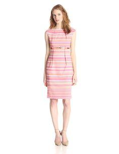 Cap-Sleeve Sheath Dress by Calvin Klein