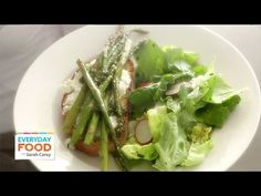 Spring Greens and Asparagus Salad with Ricotta Toast - Everyday Food with Sarah Carey