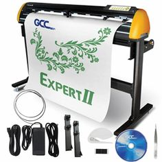 """GCC Professional Expert II 24"""" Wide Vinyl Cutter With Stand - Swing Design Commercial Signs, Swing Design, Oracal Vinyl, Sign Maker, And Peggy, Craft Show Displays, Transfer Tape, Vinyl Cutter"""