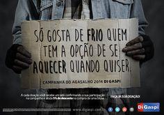 Campanha do Agasalho 2014 | rede de lojas Di Gaspi.  Materiais de PDV, digital, mídia OOH, RTV interna, etc.