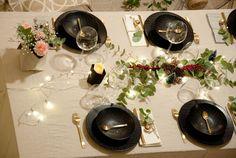 Une table de Noël Glamour et végétale, avec un rétro planning pour la réaliser.