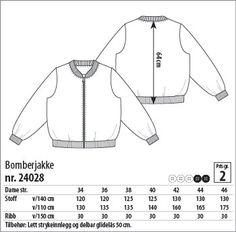 Bomberjakke - 24028 - Stoff & Stil