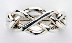 Four Band Sterling Silver Puzzle Ring by ArcanumDesigns on Etsy
