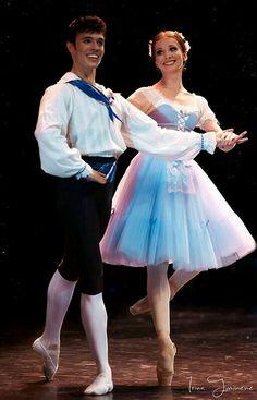 "<< Evgenia Obraztsova (Bolshoi Ballet) and Joseph Gatti (Boston Ballet), ""The Flower Festival in Genzano"" choreography by August Bournonville at Dance Open Ballet Festival, April 2013, Saint Petersburg, Russia # Photo © Irina Tuminene>>"