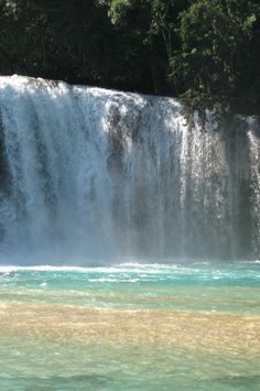 hmm...jumping off of a waterfall seems like it would be exhilarating. haha.