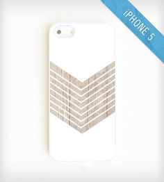 Faux Wood Geometric iPhone 5 Case - White | Gear & Gadgets iPhone | On Your Case | Scoutmob Shoppe | Product Detail