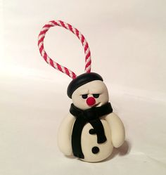 Cute grumpy snowman christmas tree Decoration by Wishcraft2013, £2.50
