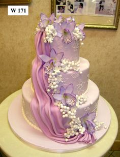 Looking for a cake as unique as you? Order your next cake from Carlo's! Elegant Wedding Cakes, Beautiful Wedding Cakes, Gorgeous Cakes, Wedding Cake Designs, Pretty Cakes, Floral Wedding, Purple Wedding, Amazing Cakes, Carlos Bakery Cakes