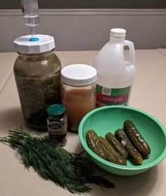 Fermented Dill Pickle Hot Sauce (and spicy pickle powder!) - Insane in the Brine Garlic Dill Pickles, Spicy Pickles, Pickle Soup, Food Mills, Spice Grinder, Dehydrator Recipes, Stuffed Green Peppers, Sauce Bottle