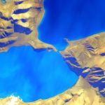 Lake Bingni Tibet from Scott Kelly year in space