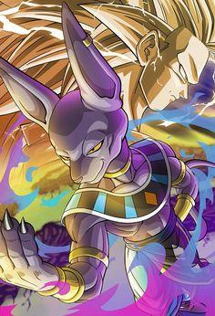 Ssj3 Goku Vs Beerus Dragon Ball Goku Anime Dragon Ball Super Dragon Ball Wallpapers
