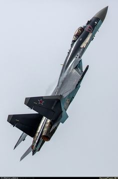 "Russian Air Force Sukhoi ""Flanker-E"" Sukhoi Su 35, Air Fighter, Fighter Jets, Russian Military Aircraft, Russian Fighter, Russian Plane, Russian Air Force, Military Jets, Military Equipment"