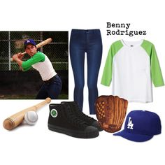 """The Sandlot - Benny """"The Jet"""" Rodriguez by bewitched-bodyandsoul on Polyvore featuring J Brand and PF Flyers"""