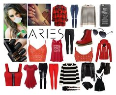 """""""Aries"""" by forever12-i on Polyvore featuring A.P.C., Casetify, H&M, Kenneth Cole Reaction, New Look, Hervé Léger, WearAll, Doublju, Miss Selfridge and J Brand"""