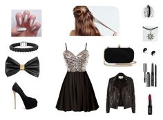 """""""Sin título #23"""" by juls182 ❤ liked on Polyvore featuring H&M, Giuseppe Zanotti, Lagos, River Island, Avenue, claire's and Bobbi Brown Cosmetics"""