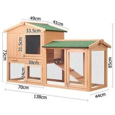 137 Rabbit Hutch Guinea Pig House 2 Storeys Run Large Buy Top Sellers Backyard Chicken Coops, Chicken Coop Plans, Building A Chicken Coop, Diy Chicken Coop, Chickens Backyard, Small Chicken Coops, Rabbit Hutch Plans, Rabbit Hutches, Bunny Cages
