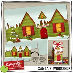 Santas workshop printable