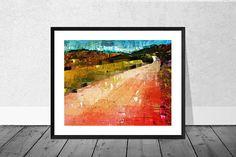 Landscape Art Print Andalucia Art Print Red Landscape