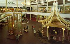 Topanga Mall - Upstairs - age 2- got my head in the bars.