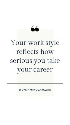 Your work style reflects how serious you take your careerMore workwear inspiration? Follow @lynnmikolajczak on Instagram. Working Woman, You Working, Work Fashion, Workwear, Reflection, Inspirational Quotes, Instagram, Women, Style