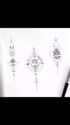 Small Tattoos Manuscript for Girls Simple Girl Tattoos, Simple Tattoo Designs, Cute Tattoos, New Tattoos, Body Art Tattoos, Boho Tattoos, Chest Tattoos For Women, Tattoos For Women Small, Small Tattoos