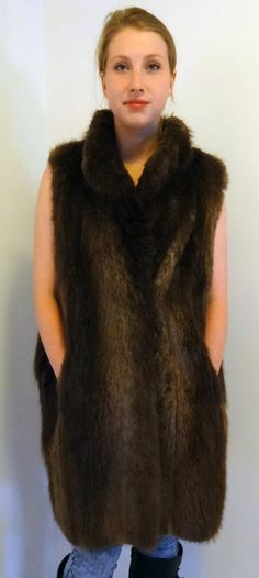 Handmade Real Beaver Fur Vest Jacket from 100 by DakinisChoice, $369.00