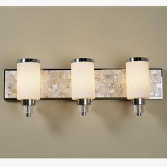 Mother of Pearl Bath Light - 3 light