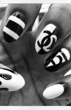nye inspired nail art 2013