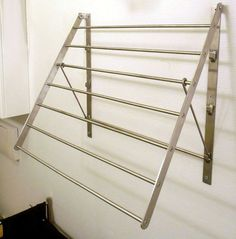 Clothes dryer clothes holder towel holder wall holder clothes line STAINLESS STEEL N Laundry Rack, Laundry Dryer, Laundry Room Organization, Clothes Drying Racks, Clothes Dryer, Clothes Line, Home Room Design, Laundry Room Design, Metal Furniture