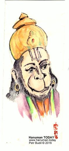 Tuesday, May 24, 2016 http://www.hanuman.today/product/may-24-2016/ Daily drawings of Hanuman / Hanuman TODAY / Connecting with Hanuman through art / Artwork by Petr Budil [Pritam] www.hanuman.today