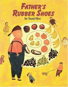 Father's Rubber Shoes by Yumi Heo. Yungsu is having trouble adjusting to his new home in the United States. His father, busy running the store, doesn't have time to play, Father tries to ease the situation by sharing a story from his childhood, about a special pair of shoes.  Heo has wrapped the universal feelings of upheaval, alienation and homesickness that accompany any move around a story of one family's immigrant experience.
