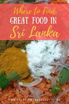 Where to eat when you travel to Sri Lanka, including restaurants in Colombo, Negombo, and Ella.