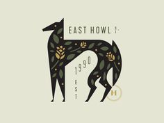 East Howl designed by Adam Anderson. Connect with them on Dribbble; the global community for designers and creative professionals. Logo Branding, Typography Logo, Graphic Design Typography, Graphic Design Illustration, Art And Illustration, Graphic Art, Lettering, Corporate Branding, Cover Design