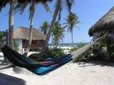 Hemingway Eco-Resort: cabanas/bungalows, Tulum beach, Riviera Maya, Mexico