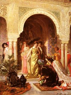 Edouard Frederic Wilhelm Richter (German, 1844-1913)   – L' Offrande