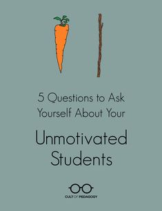 Here are five questions to ask yourself about your unmotivated students!