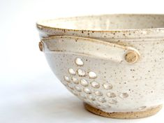 MADE TO ORDER - Processing time is 3-4 weeks. Ceramic colander - pottery berry bowl  This little colander is thrown on a potters wheel with