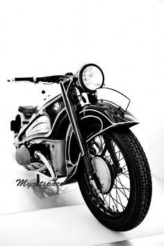 Classic Bike Fine art print Black white abstract by Myartspace, $24.00